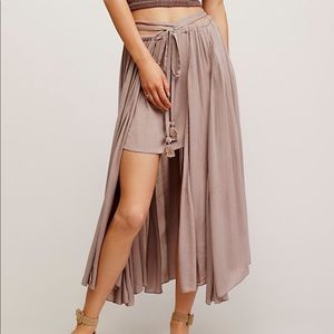 Free People Mad About You Midi High Low Skirt XS